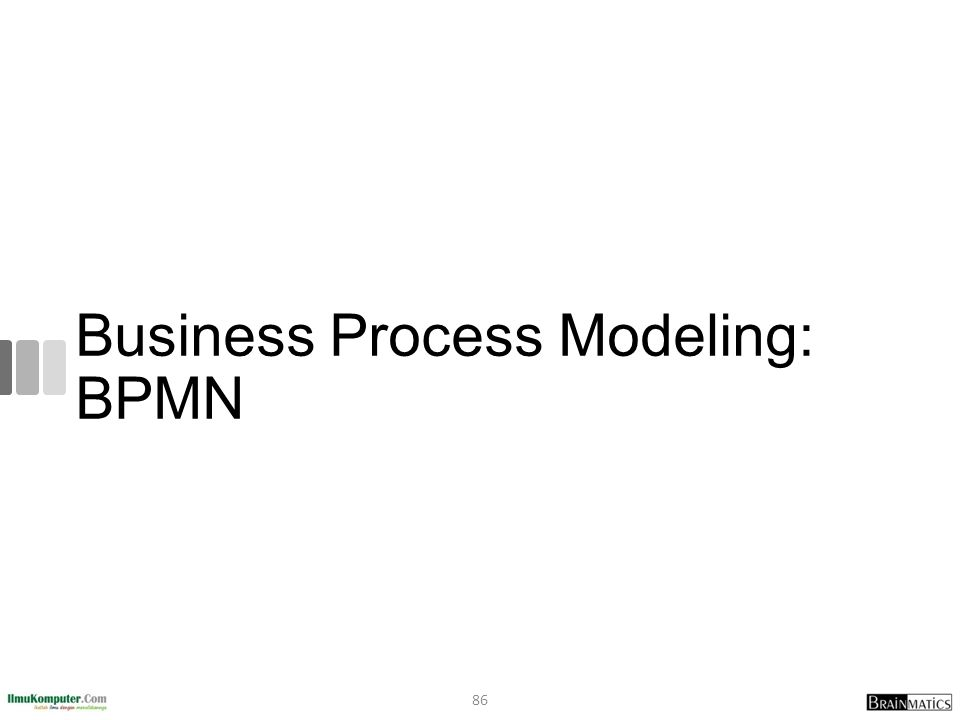 Business Process Modeling: BPMN 86