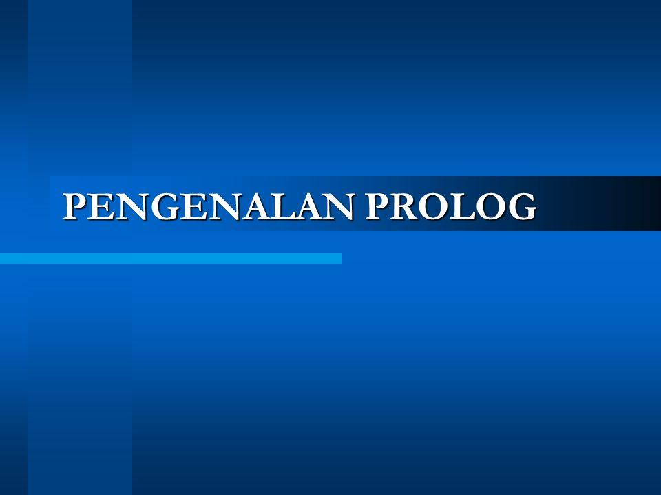 PENGENALAN PROLOG