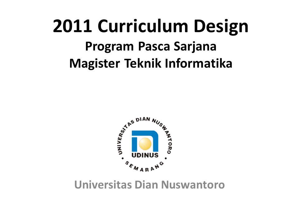 2011 Curriculum Design Program Pasca Sarjana Magister Teknik Informatika Universitas Dian Nuswantoro