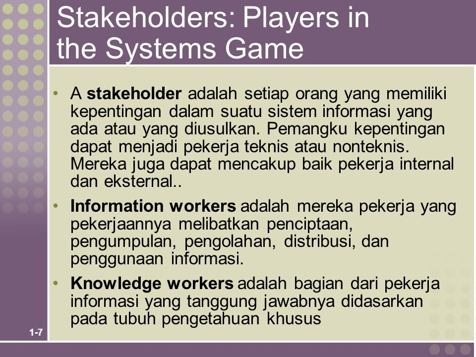 1-8 Stakeholders Perspectives on an Information System