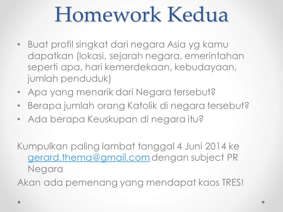 Homework Kedua Buat profil singkat dari negara Asia yg kamu dapatkan (lokasi, sejarah negara, emerintahan seperti apa, hari kemerdekaan, kebudayaan, jumlah penduduk) Apa yang menarik dari Negara tersebut.