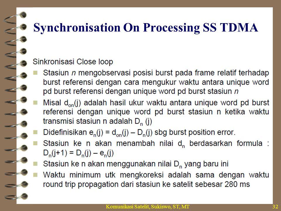 Synchronisation On Processing SS TDMA Komunikasi Satelit, Sukiswo, ST, MT32