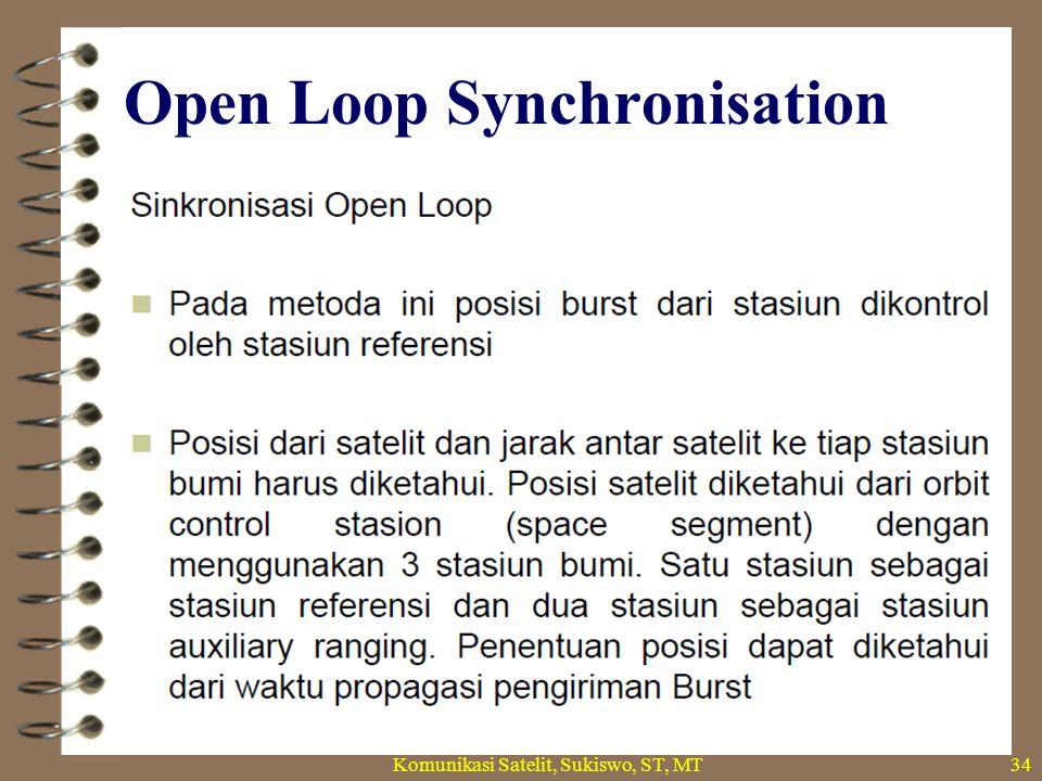 Open Loop Synchronisation Komunikasi Satelit, Sukiswo, ST, MT34