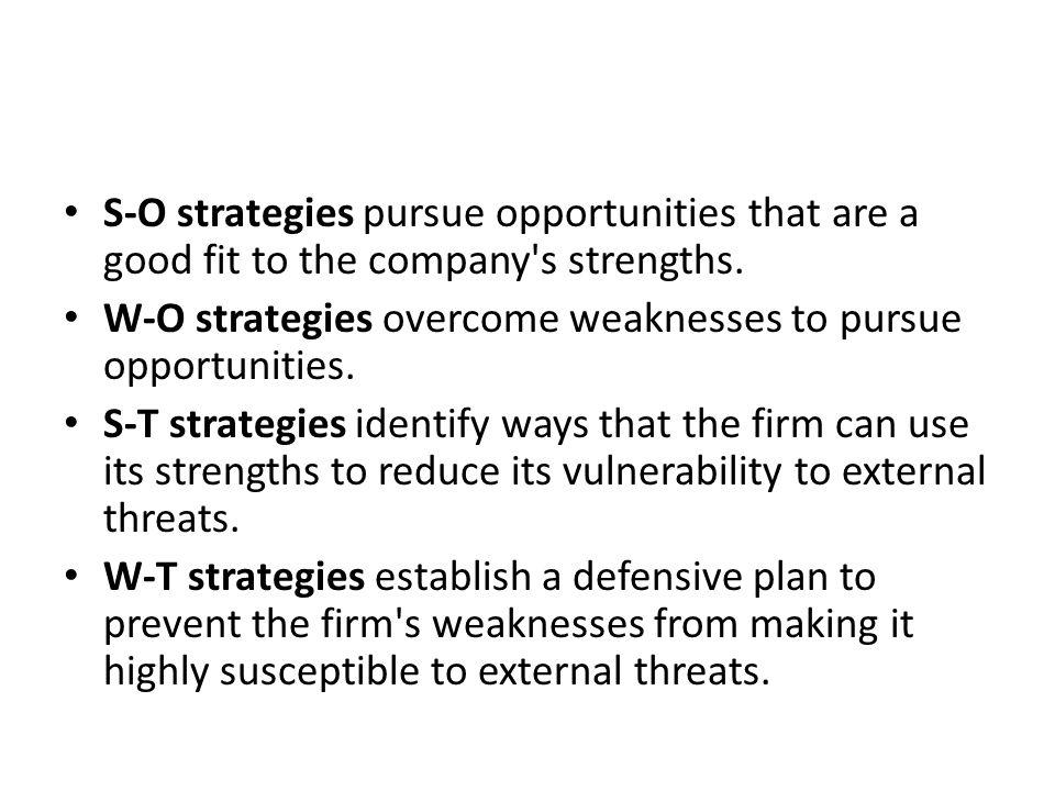 S-O Situasi yang sangat menguntungkan, perusahaan memiliki peluang dan kekuatan internal, sehingga dengan kekuatan yang dimilikinya dapat memanfaatkan peluang yang ada menjadi keuntungan bagi perusahaan.