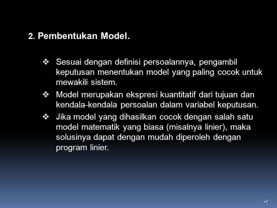 7 2.Pembentukan Model.