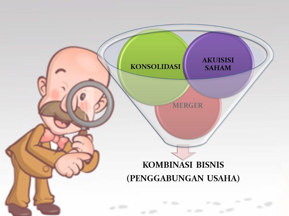 KOMBINASI BISNIS (PENGGABUNGAN USAHA) MERGER KONSOLIDASI AKUISISI SAHAM