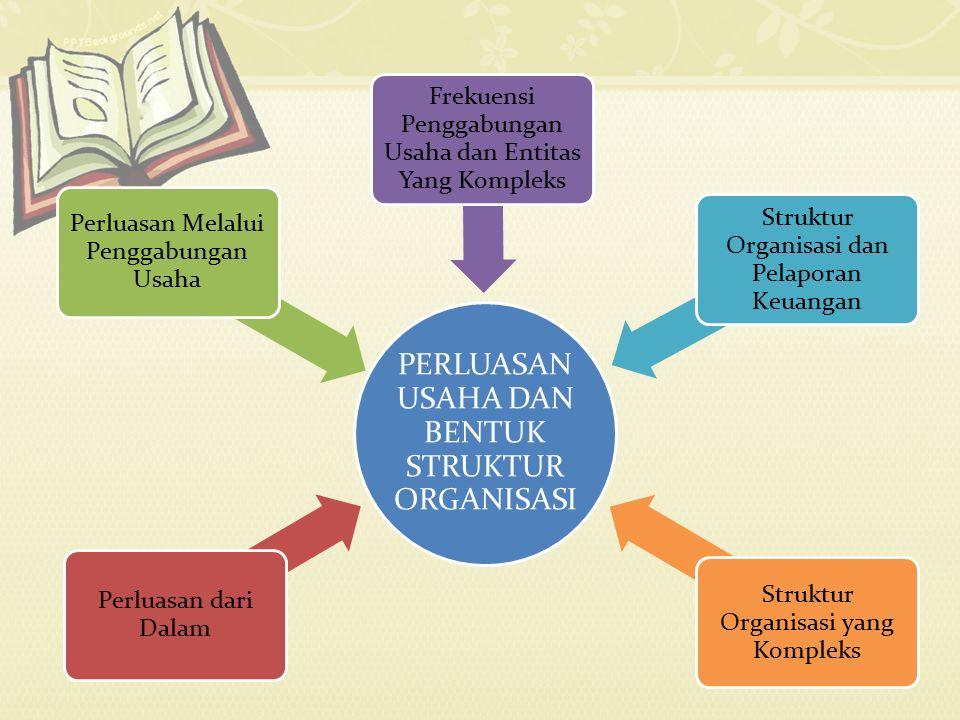 PERLUASAN USAHA DAN BENTUK STRUKTUR ORGANISASI Perluasan dari Dalam Perluasan Melalui Penggabungan Usaha Frekuensi Penggabungan Usaha dan Entitas Yang Kompleks Struktur Organisasi dan Pelaporan Keuangan Struktur Organisasi yang Kompleks