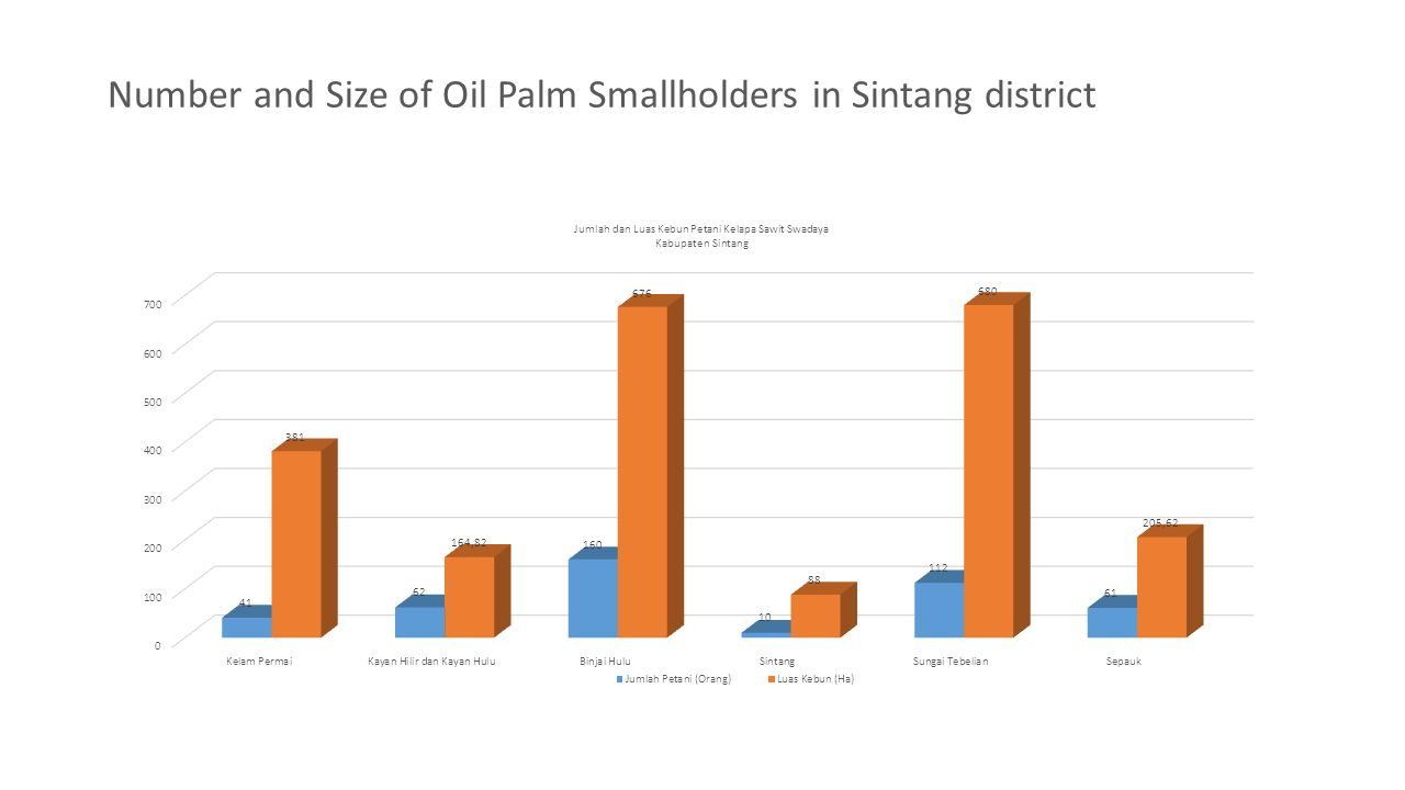 Number and Size of Oil Palm Smallholders in Sintang district