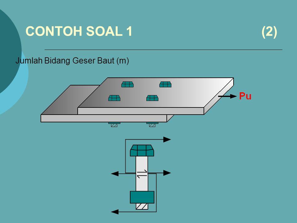 CONTOH SOAL 1 (2) Jumlah Bidang Geser Baut (m)