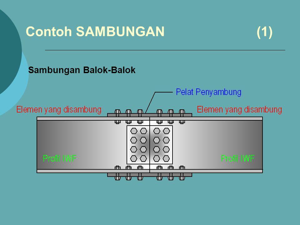 Contoh SAMBUNGAN (1) Sambungan Balok-Balok