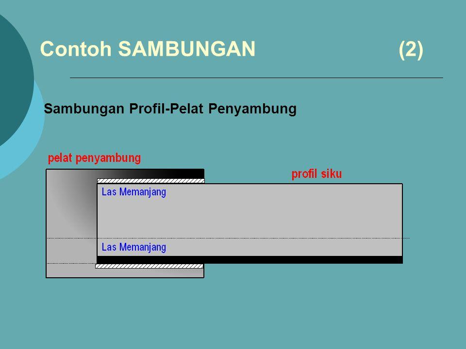 Contoh SAMBUNGAN (2) Sambungan Profil-Pelat Penyambung