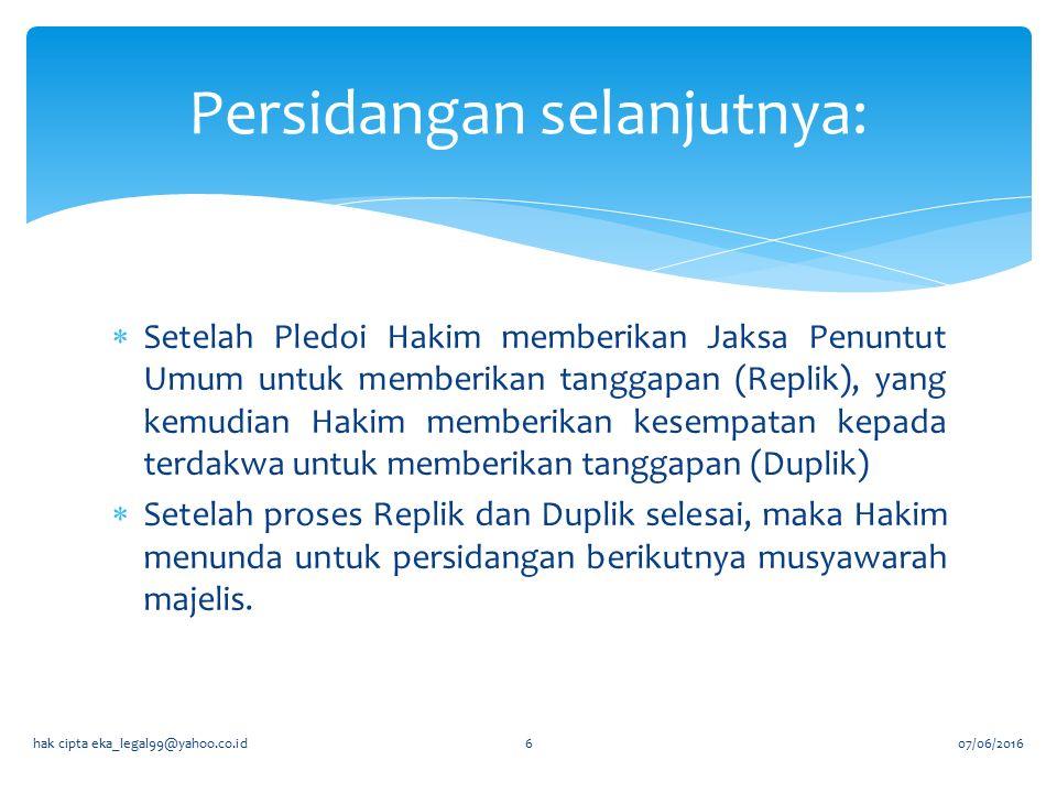  Putusan yang dibacakan dalam Persidangan yang terbuka untuk umum.