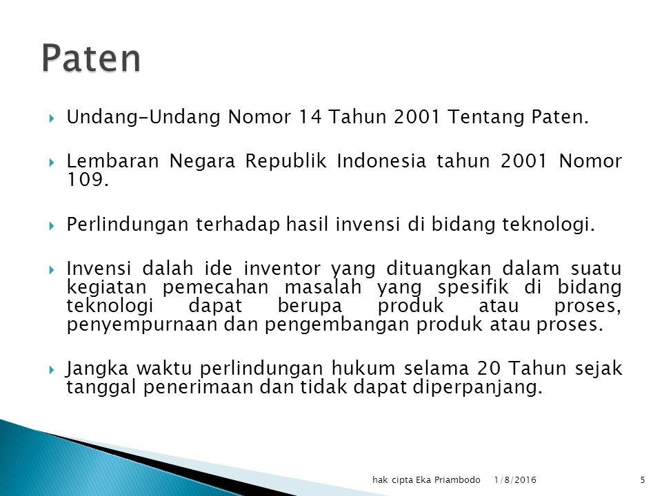  Undang-undang Republik Indonesia Nomor 31 Tahun 2000 tentang Desain Industri.