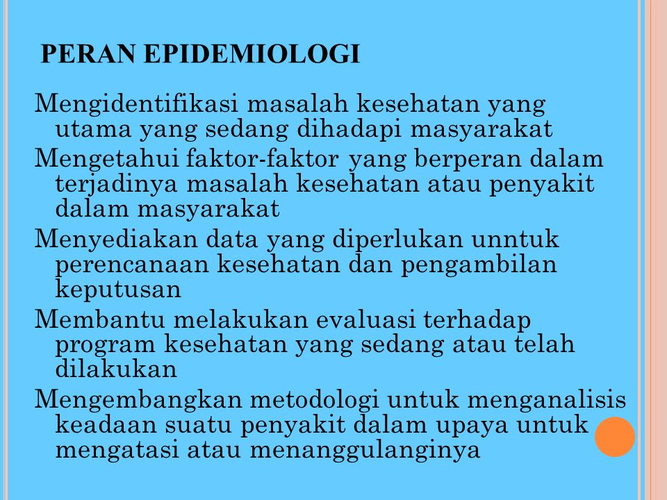 KONSEP ANALISA EPIDEMIOLOGI ANALITIK Setiap kejadian mengikuti hubungan sebab akibat Jenis Hubungan 2. Hubungan Statistik 1. Hubungan non statistik 