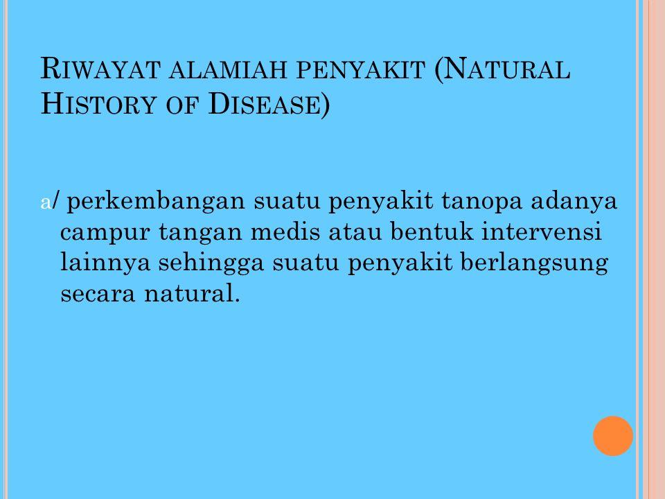 V. RIWAYAT ALAMIAH PENYAKIT
