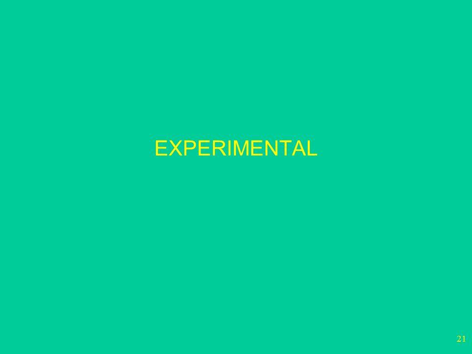 21 EXPERIMENTAL