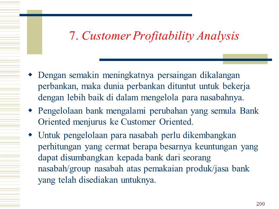 7. Customer Profitability Analysis DD engan semakin meningkatnya persaingan dikalangan perbankan, maka dunia perbankan dituntut untuk bekerja dengan