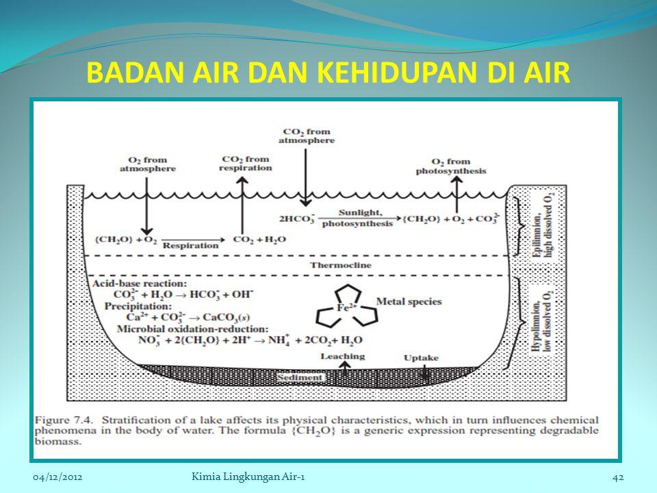 BADAN AIR DAN KEHIDUPAN DI AIR 04/12/2012Kimia Lingkungan Air-142