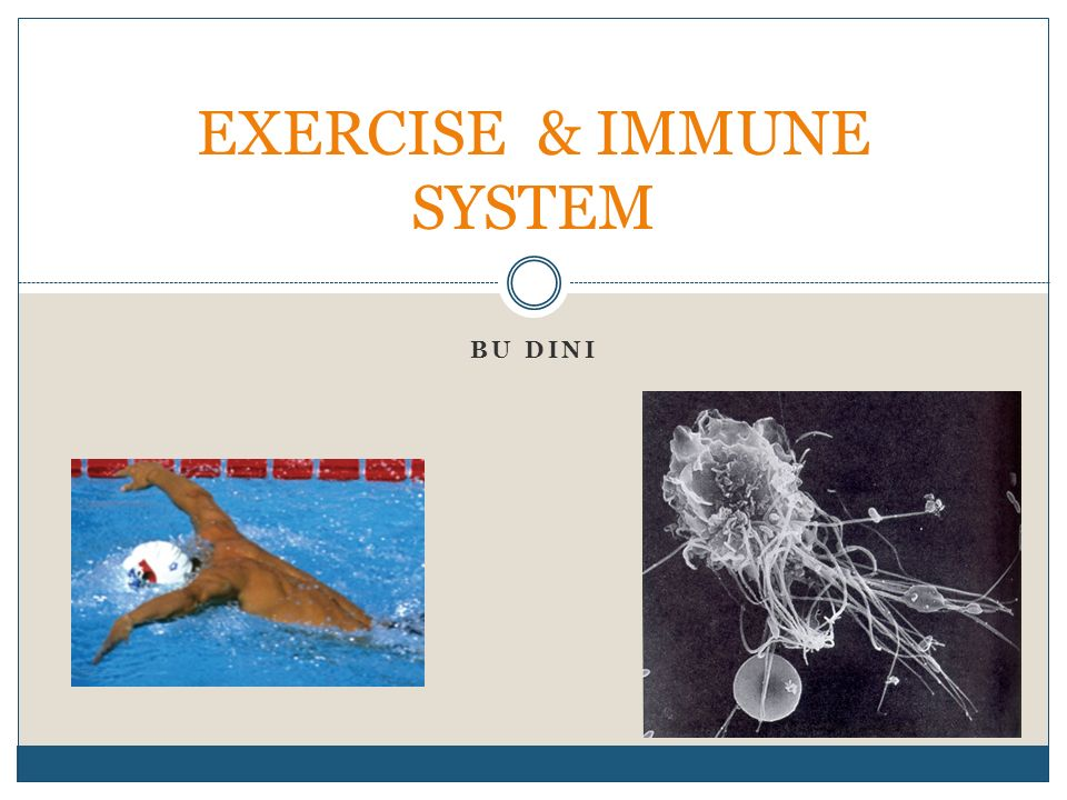 High-intensity and long-duration exercise promotes an increased risk of infection Decreased blood levels of B cells, T cells, and natural killer cells Decreases in natural killer cell activity and T-cell function Decreases in nasal neutrophil phagocytosis Decreases in nasal and salivary IgA levels Increases in pro- and anti-infl ammatory cytokines
