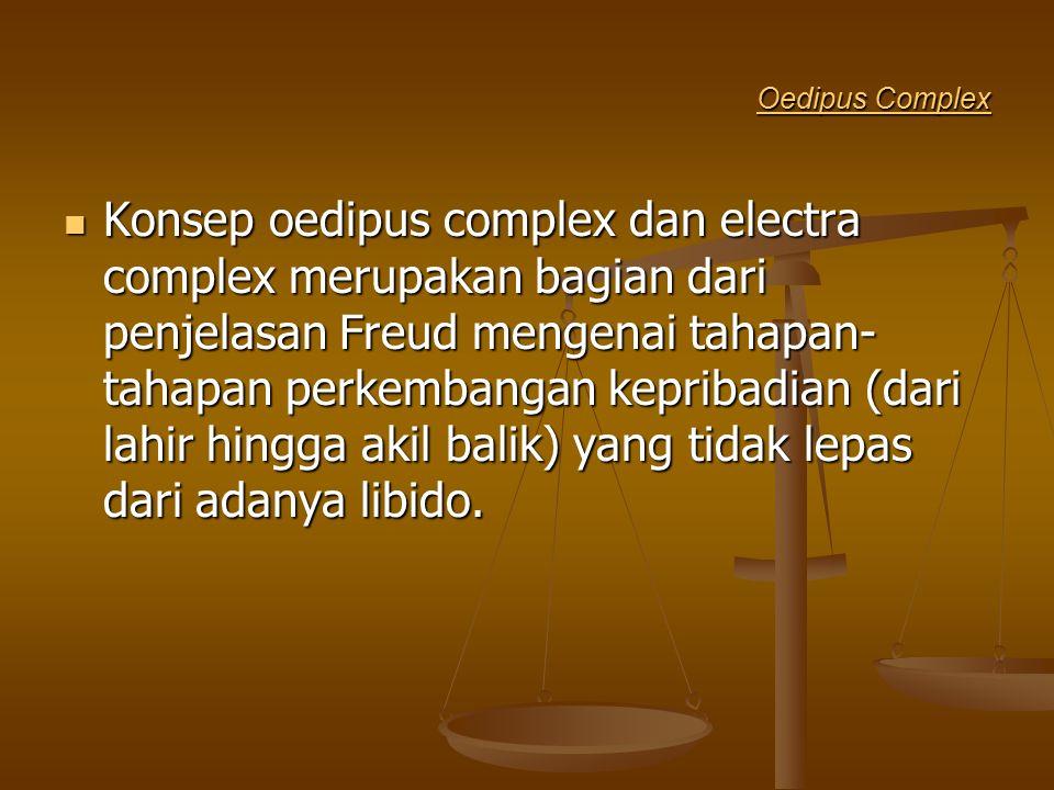 Oedipus Complex Oedipus Complex Konsep oedipus complex dan electra complex merupakan bagian dari penjelasan Freud mengenai tahapan- tahapan perkembang