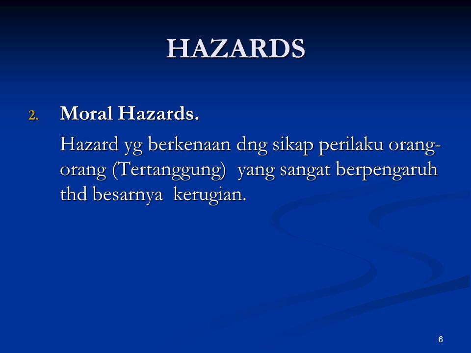 6 2. Moral Hazards.