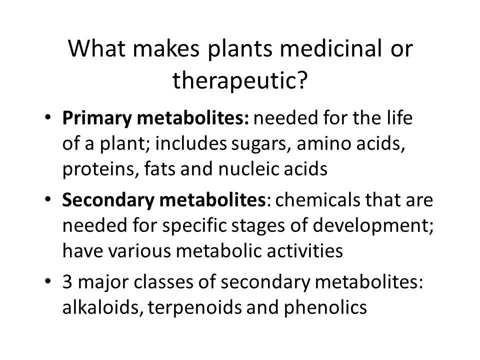 Selected medicinal plants developed from Ethnobotanical sources