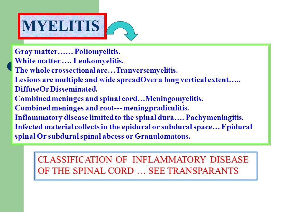 ACUTE TRANSVERSE MYELITIS IS USUALLY BILATERAL AND TENDS TO CAUSE MORE SEVERE WEAKNESS THAN THE TYPICAL ATTACKS OF PARTIAL MYELITIS.