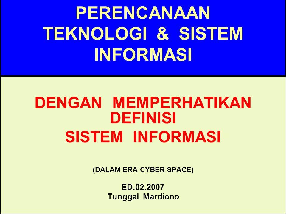 Tunggal M.Pendorong teknologis 1.