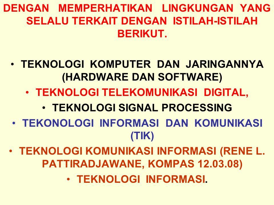 Tunggal M.Perkembangan peran beberapa aplikasi sistem-sistem informasi.