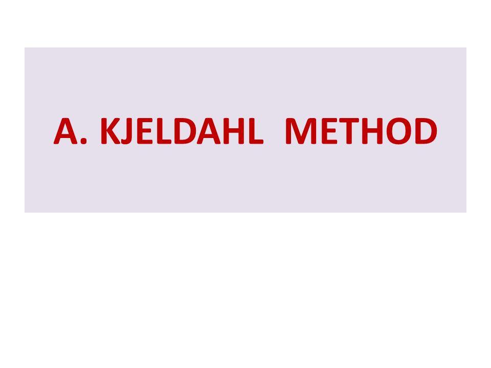 A. KJELDAHL METHOD
