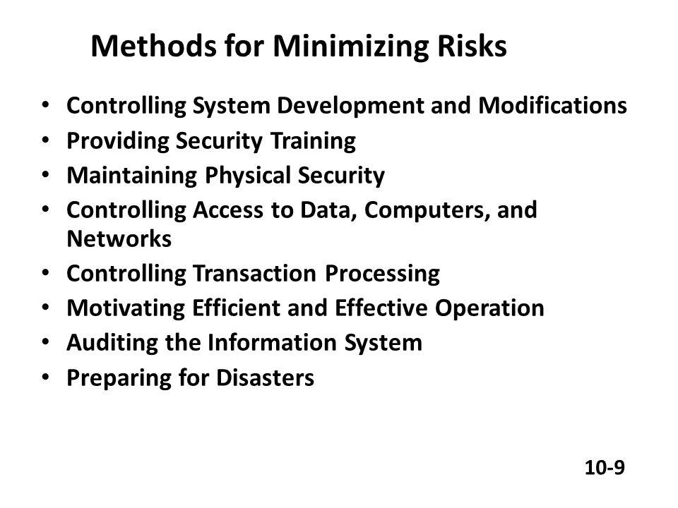 Closing Ancaman terhadap kegagalan project Ancaman terhadap tidak berfungsinya sistem Ancaman terhadap kriminalitas komputer 10-19
