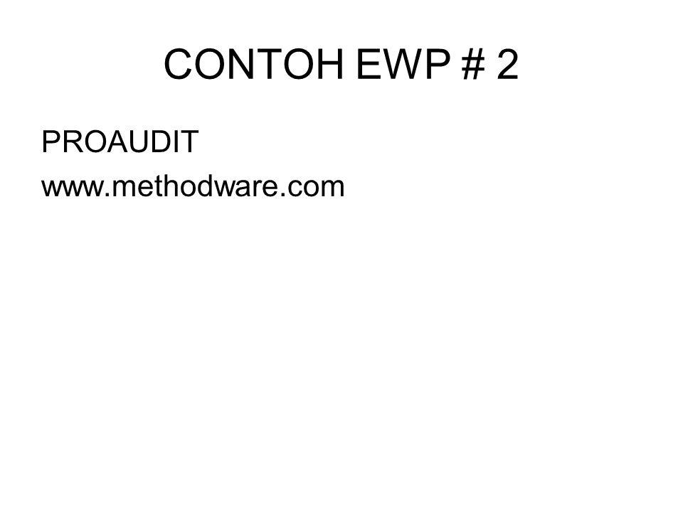 CONTOH EWP # 2 PROAUDIT www.methodware.com