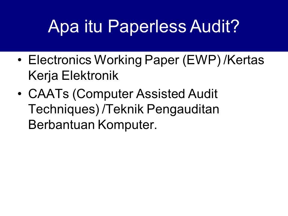 Electronics Working Paper (EWP) /Kertas Kerja Elektronik CAATs (Computer Assisted Audit Techniques) /Teknik Pengauditan Berbantuan Komputer. Apa itu P
