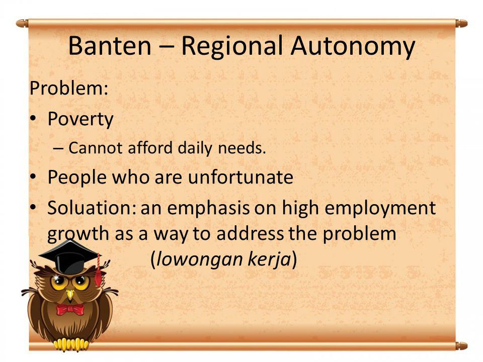 Banten – Regional Autonomy UU No.