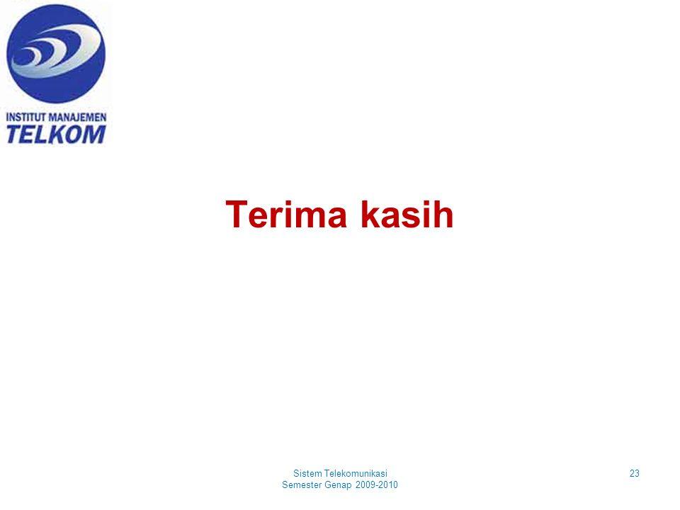 Terima kasih 23Sistem Telekomunikasi Semester Genap 2009-2010