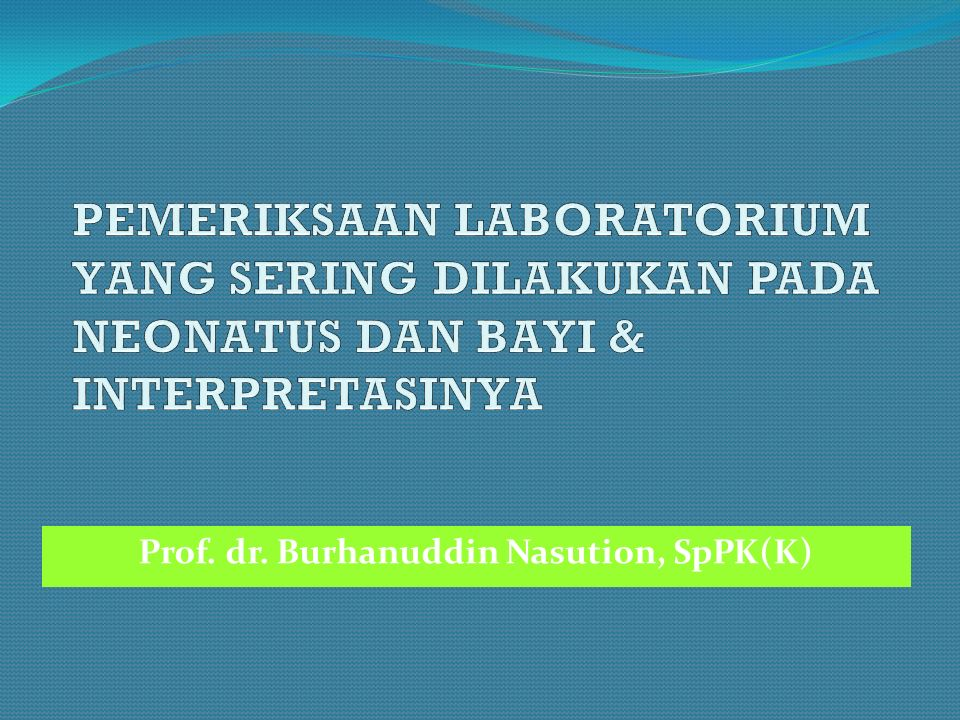 Prof. dr. Burhanuddin Nasution, SpPK(K)
