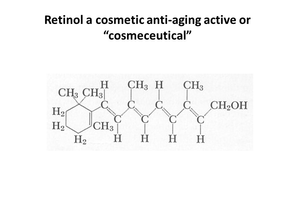 Retinol a cosmetic anti-aging active or cosmeceutical
