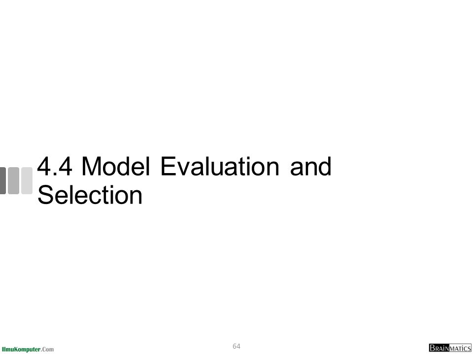 4.4 Model Evaluation and Selection 64