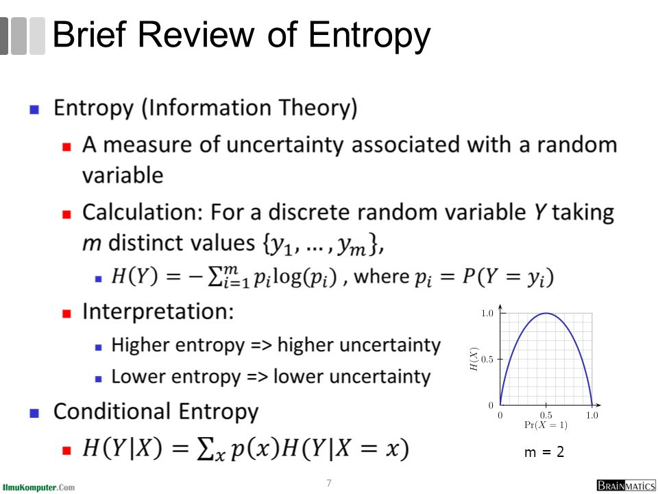 7 Brief Review of Entropy m = 2
