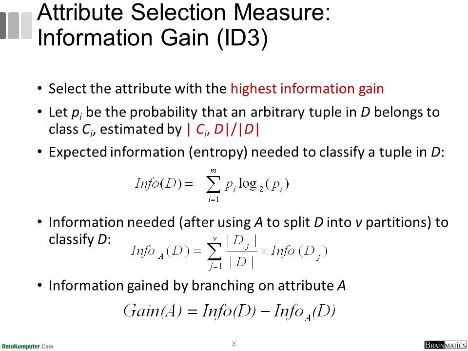 Dari hasil pada Node 1, dapat diketahui bahwa atribut dengan Gain tertinggi adalah HUMIDITY yaitu sebesar 0.37051 Dengan demikian HUMIDITY dapat menjadi node akar Ada 2 nilai atribut dari HUMIDITY yaitu HIGH dan NORMAL.