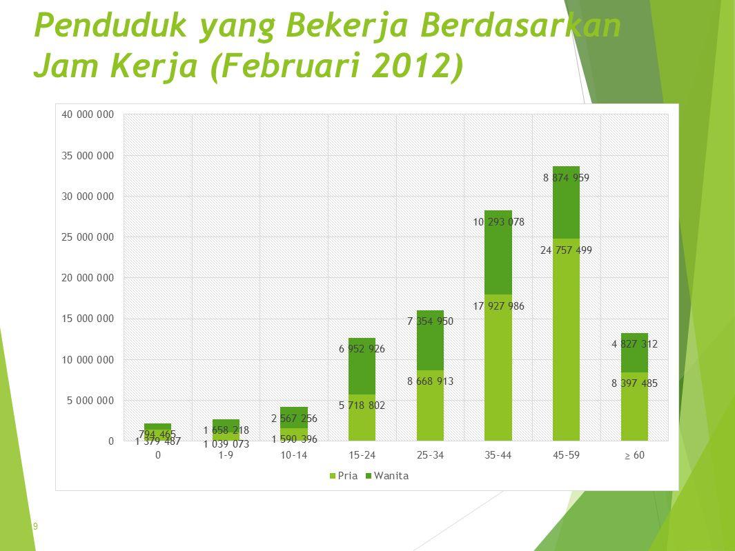 Penduduk yang Bekerja Berdasarkan Jam Kerja (Februari 2012) 9