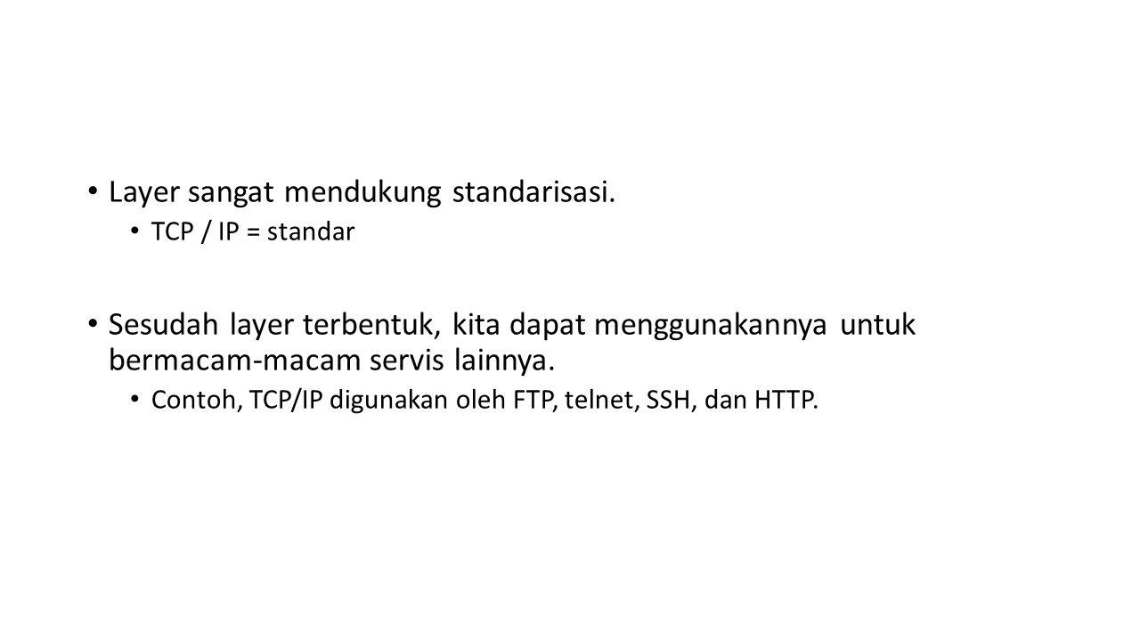 Layer sangat mendukung standarisasi.
