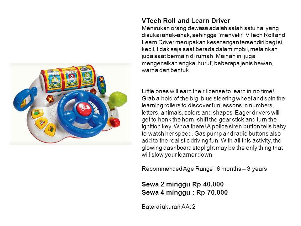 VTech Roll and Learn Driver Menirukan orang dewasa adalah salah satu hal yang disukai anak-anak, sehingga menyetir VTech Roll and Learn Driver merupakan kesenangan tersendiri bagi si kecil, tidak saja saat berada dalam mobil, melainkan juga saat bermain di rumah.