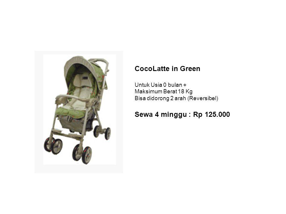 CocoLatte in Green Untuk Usia 0 bulan + Maksimum Berat 18 Kg Bisa didorong 2 arah (Reversibel) Sewa 4 minggu : Rp 125.000