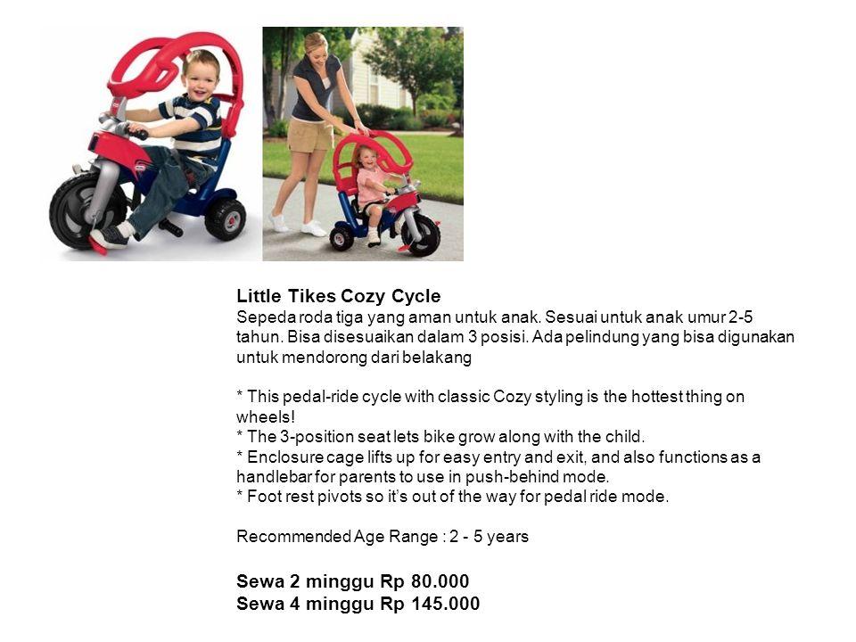 Little Tikes Cozy Cycle Sepeda roda tiga yang aman untuk anak.