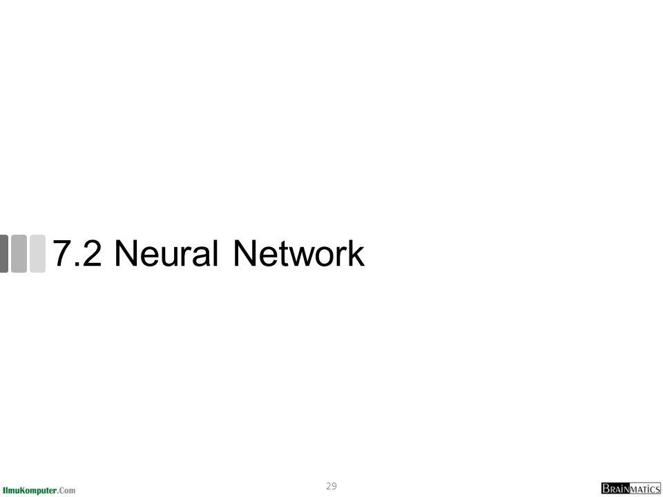 7.2 Neural Network 29