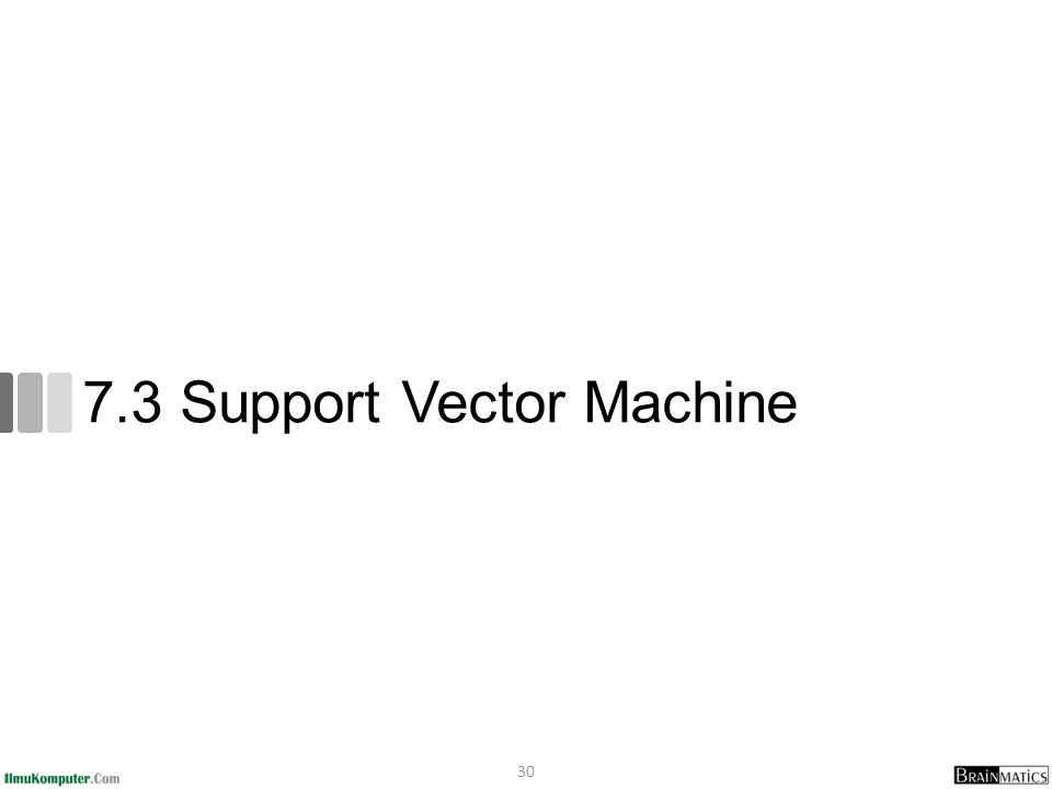 7.3 Support Vector Machine 30