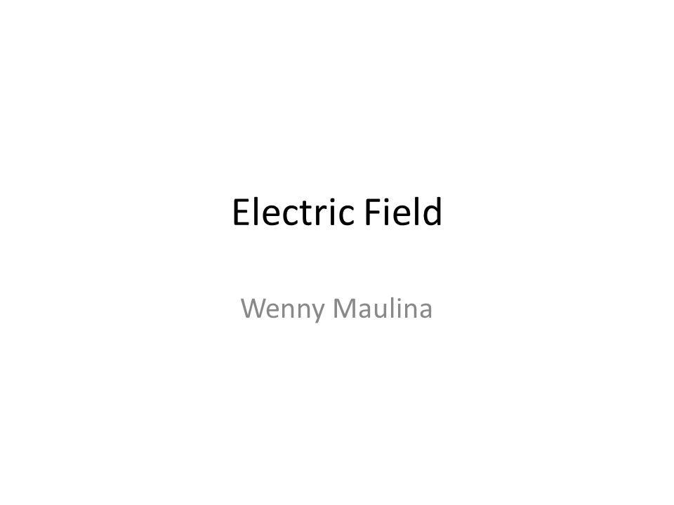 Electric Field Wenny Maulina