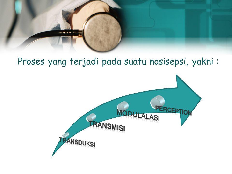 Terjadi kerusakan jaringan (proses inflamasi) Terjadi kerusakan jaringan (proses inflamasi) Sesitisasi saraf Allodinia Hiperalgesia Referred pain Meng