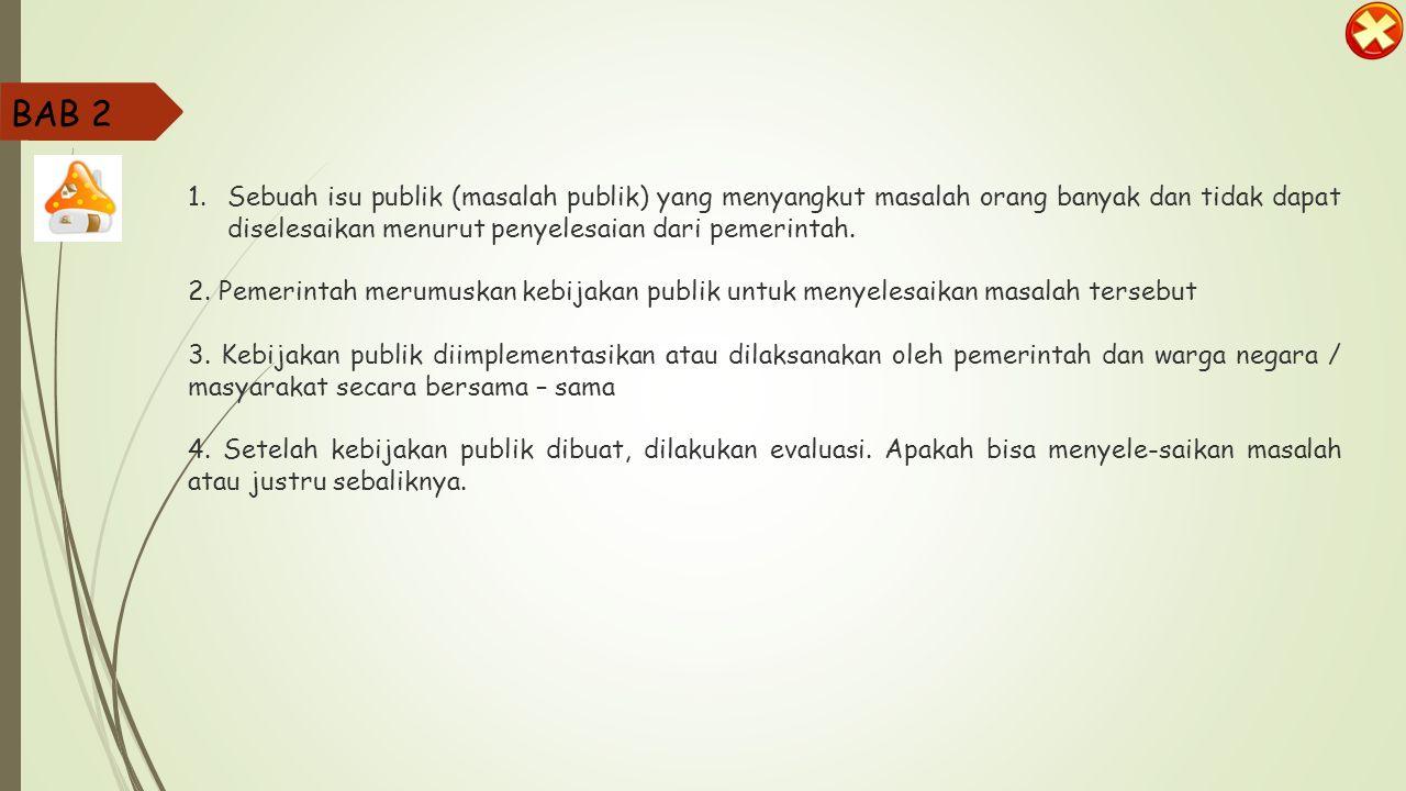 Partisipasi dalam perumusan kebijakan publik BAB 2